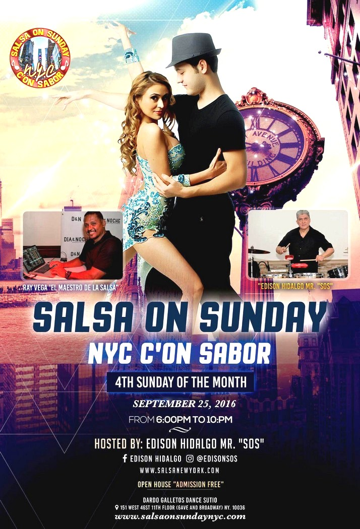 Salsa on sundays nyc for 151 west broadway 4th floor